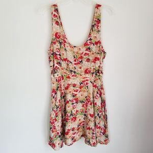 Lucca Couture Floral Rose Sundress Dress Mini 10 M